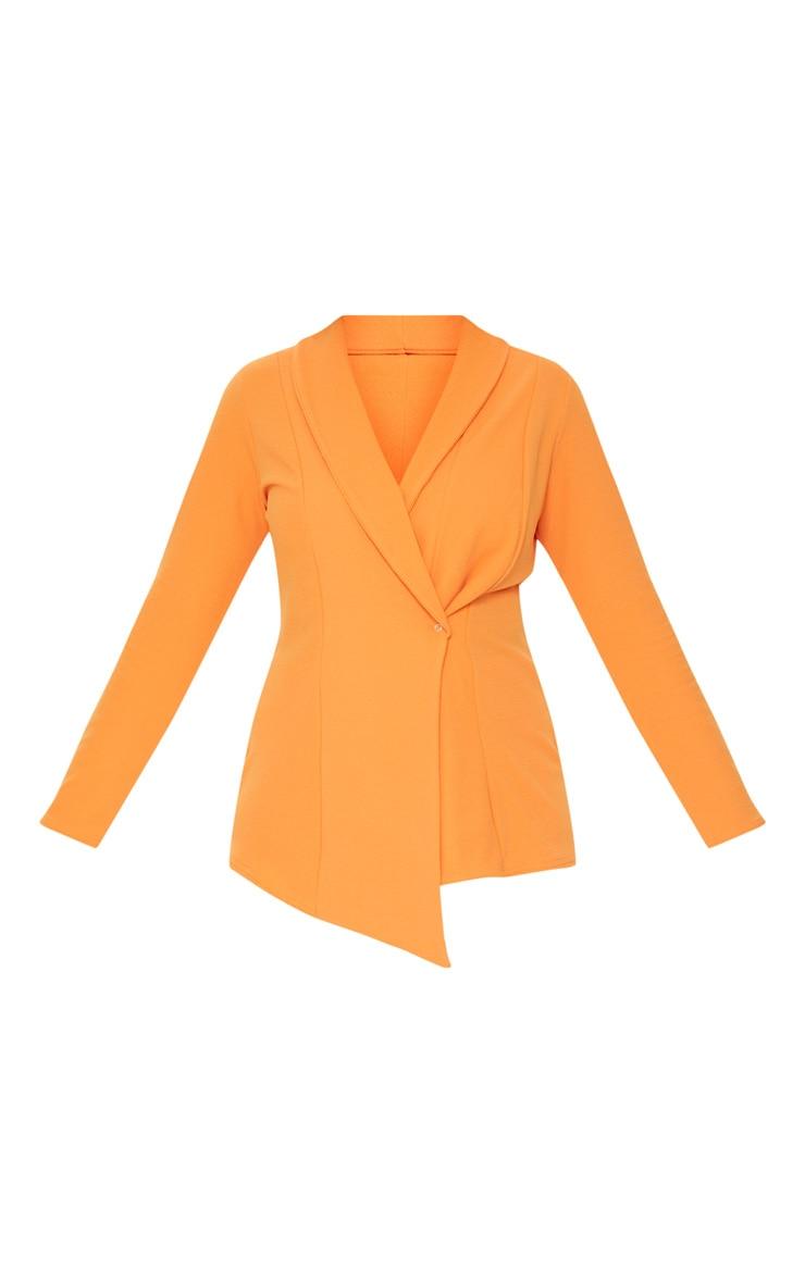 Plus Orange Wrap Detail Blazer 3
