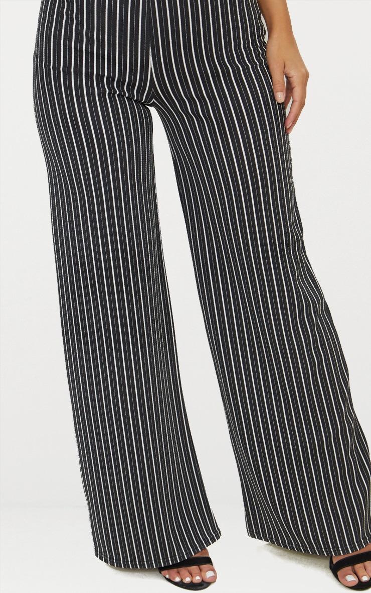 Petite pantalon ample noir à fines rayures  4