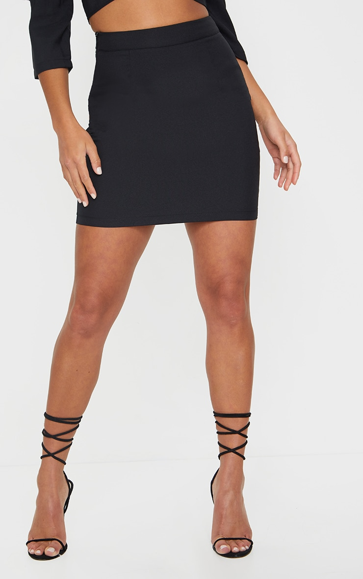 Petite Black Bodycon Mini Skirt 2