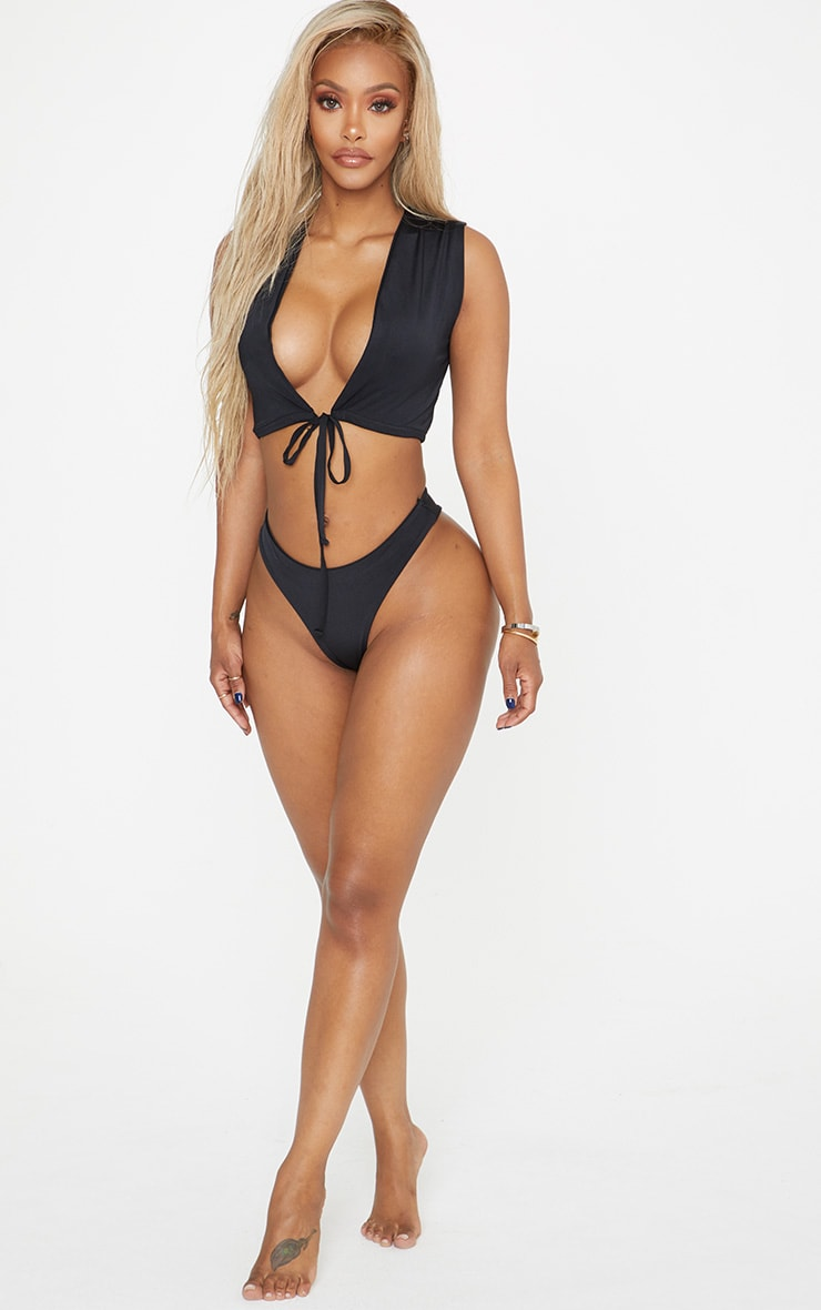 Shape Black High Rise Bikini Bottom 6