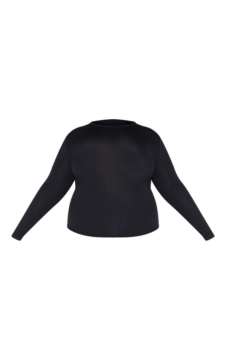 Plus Basic Black & White 2 Pack Long Sleeve Fitted T Shirt 5