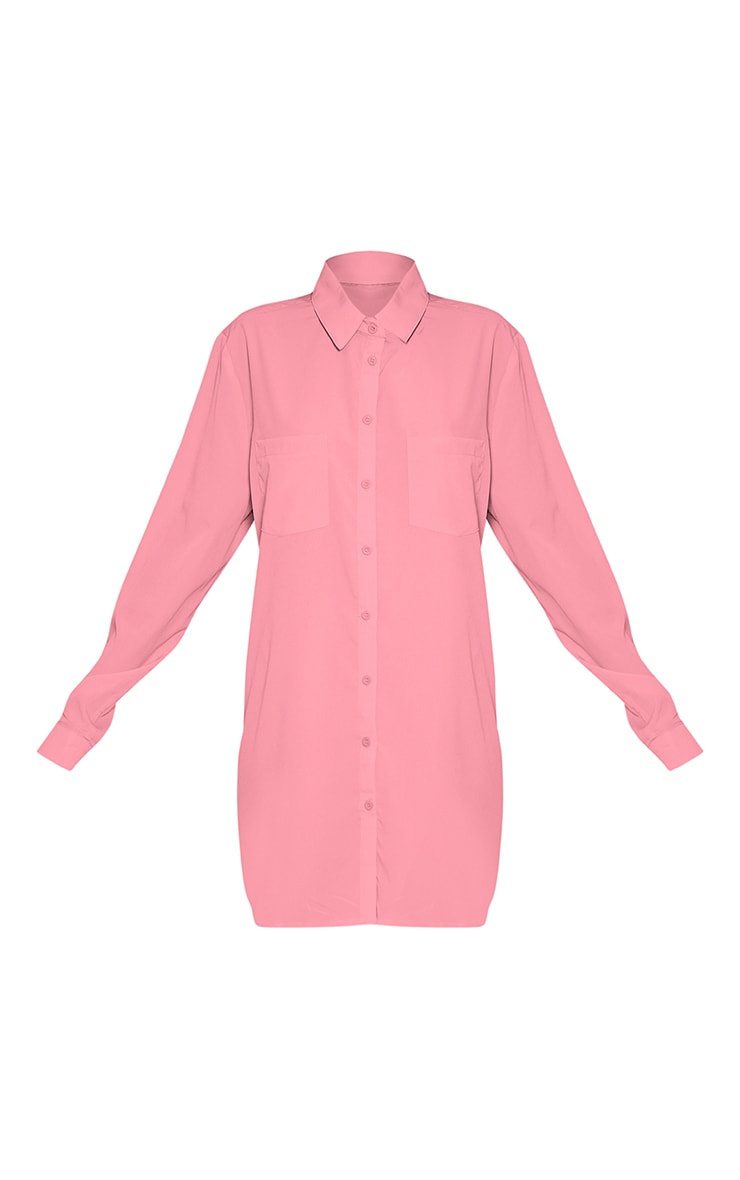 Effy Bubblegum Pink Shirt Dress 4