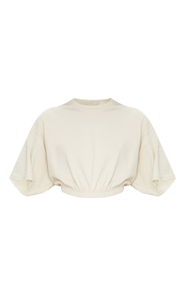 Sand Cropped T Shirt 5