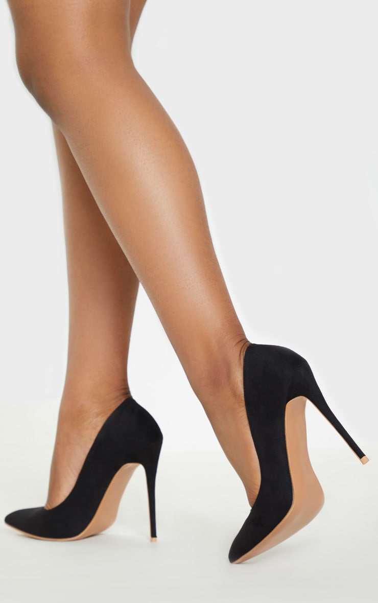 Black Wide Fit Court Shoes 2