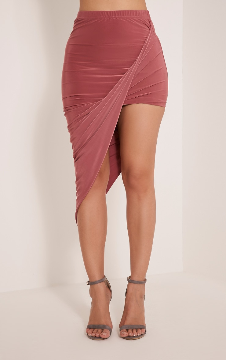 Alba Rose Slinky Drape Skirt 3