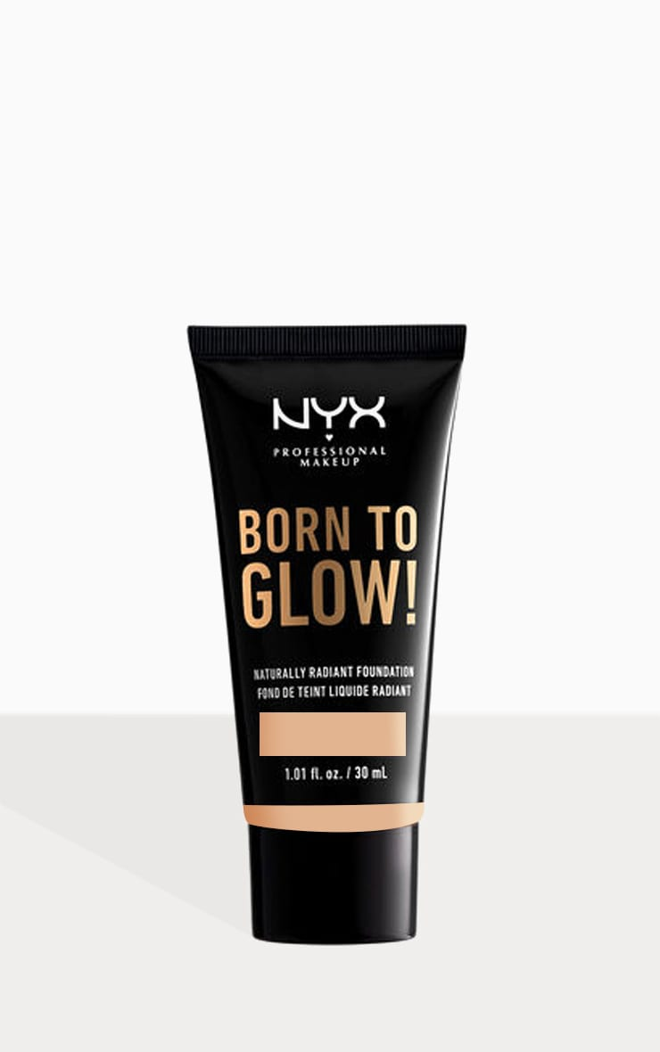 NYX PMU Born To Glow Naturally Radiant Foundation Medium Olive 30ml 1