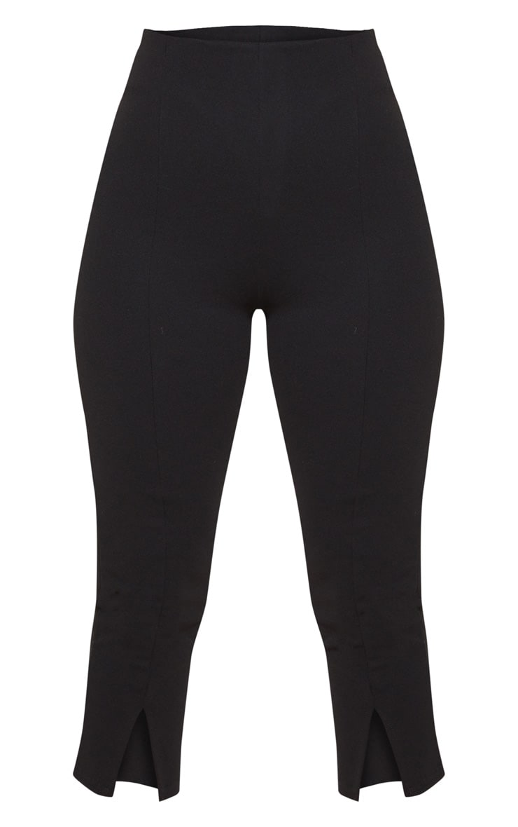 Petite Black Split Front Cropped Legging 3