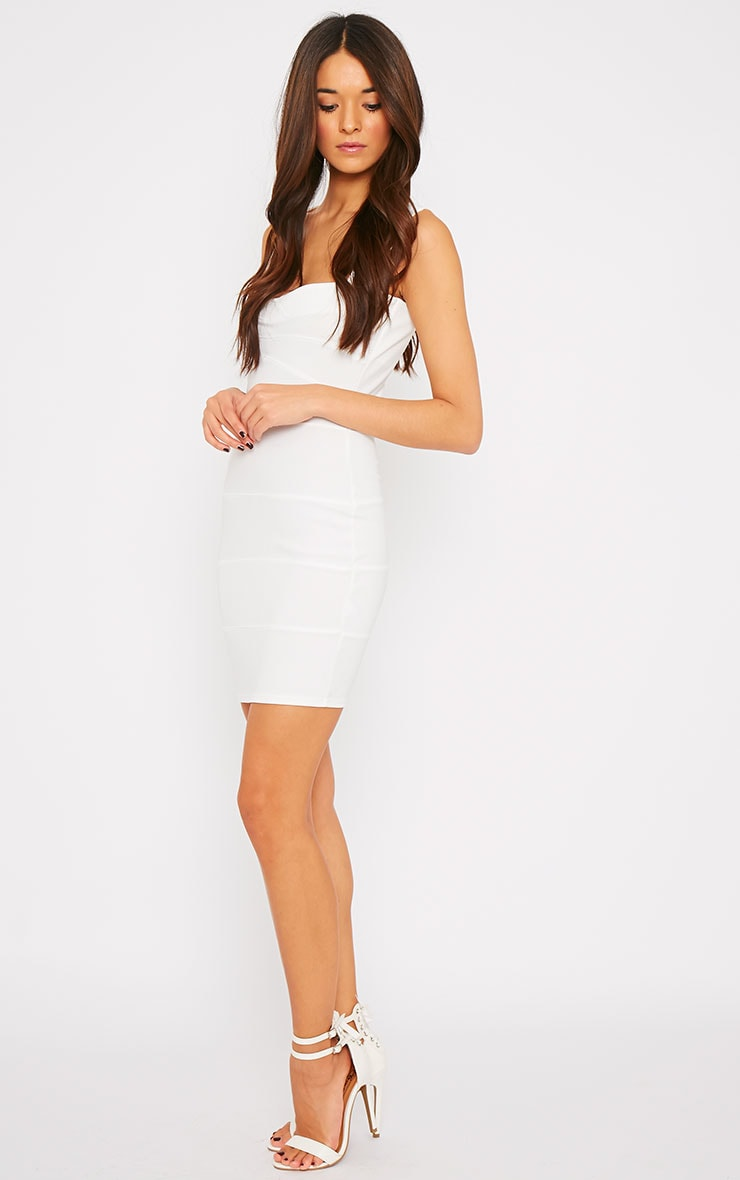 Elsa Cream Bandage Dress 3