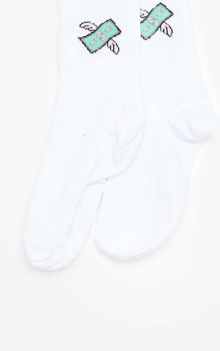 White Dollar Wing Socks 4