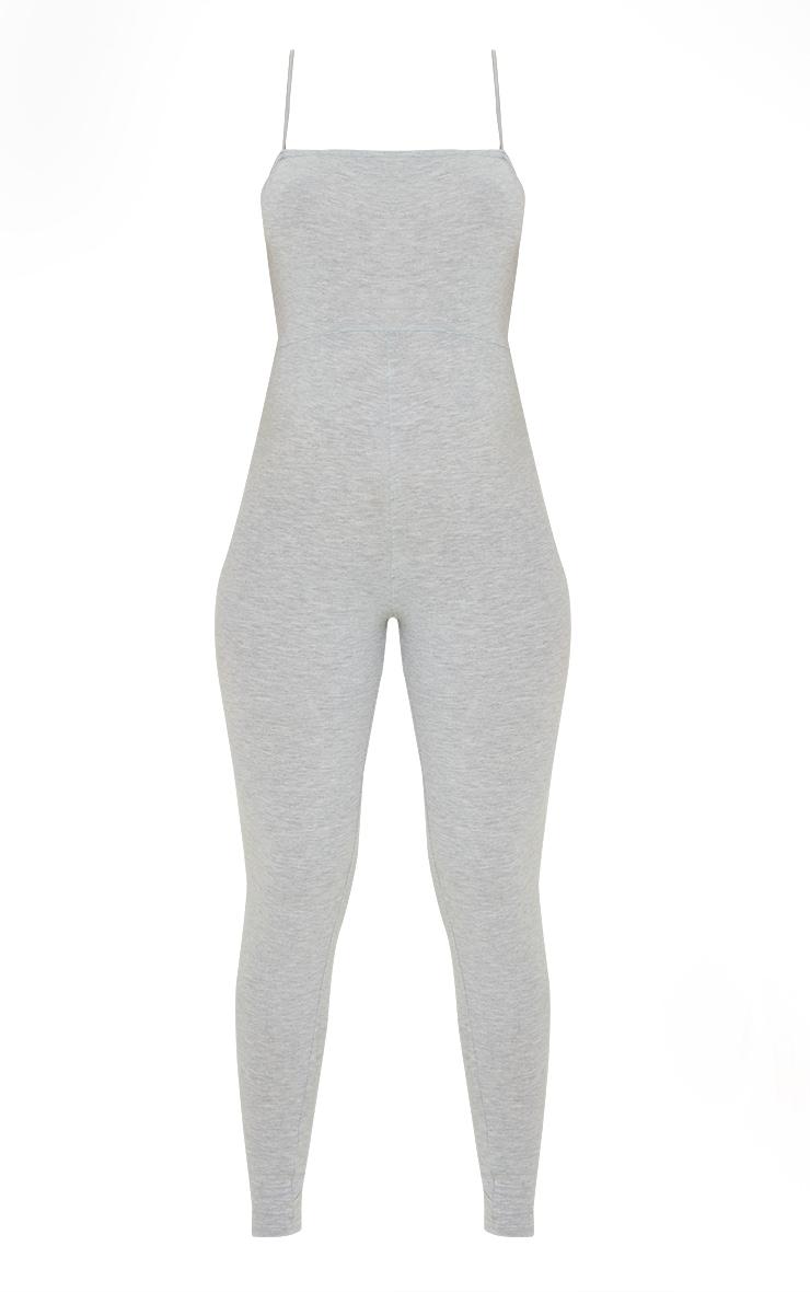 Maternity Grey Basic Strappy Jumpsuit 5