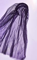 Black Veil on Hair Band 2