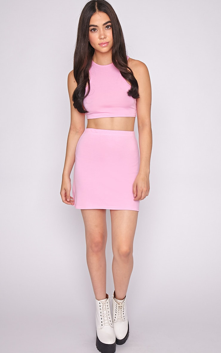Erika Pink A Line Mini Skirt  4