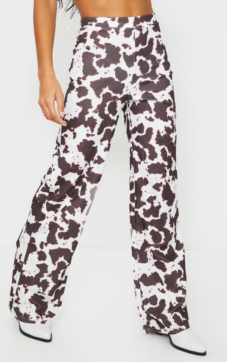 Cow Print Wide Leg Pants 2