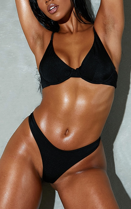 Black Mix & Match Underwired Bikini Top 1
