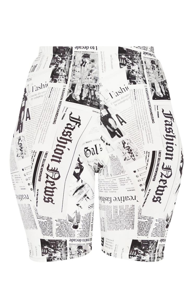 Newspaper Print Cycle Short 3