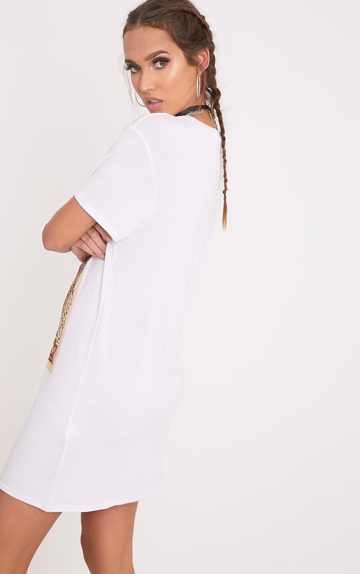 Robe t-shirt blanche imprimé carte de tarot 2