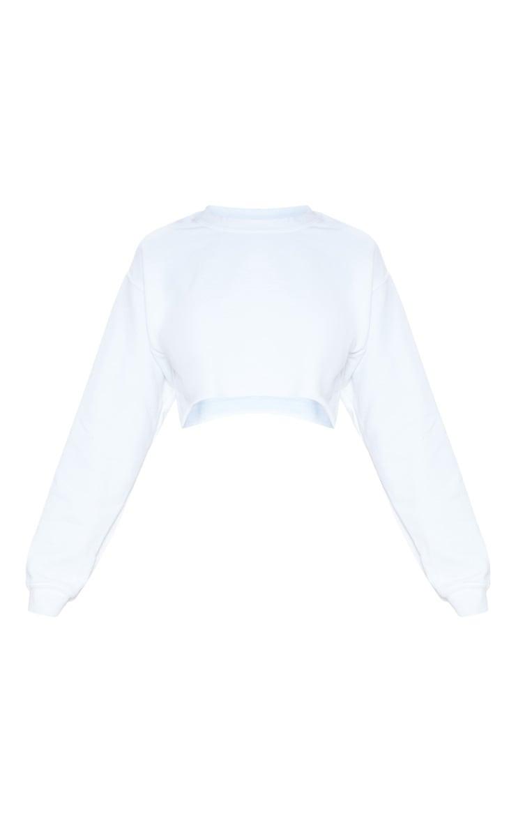 Sweat court blanc classique 3