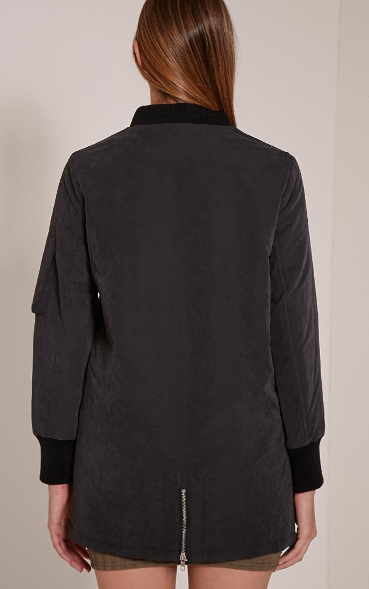Bailey Black Longline Padded Coat 2