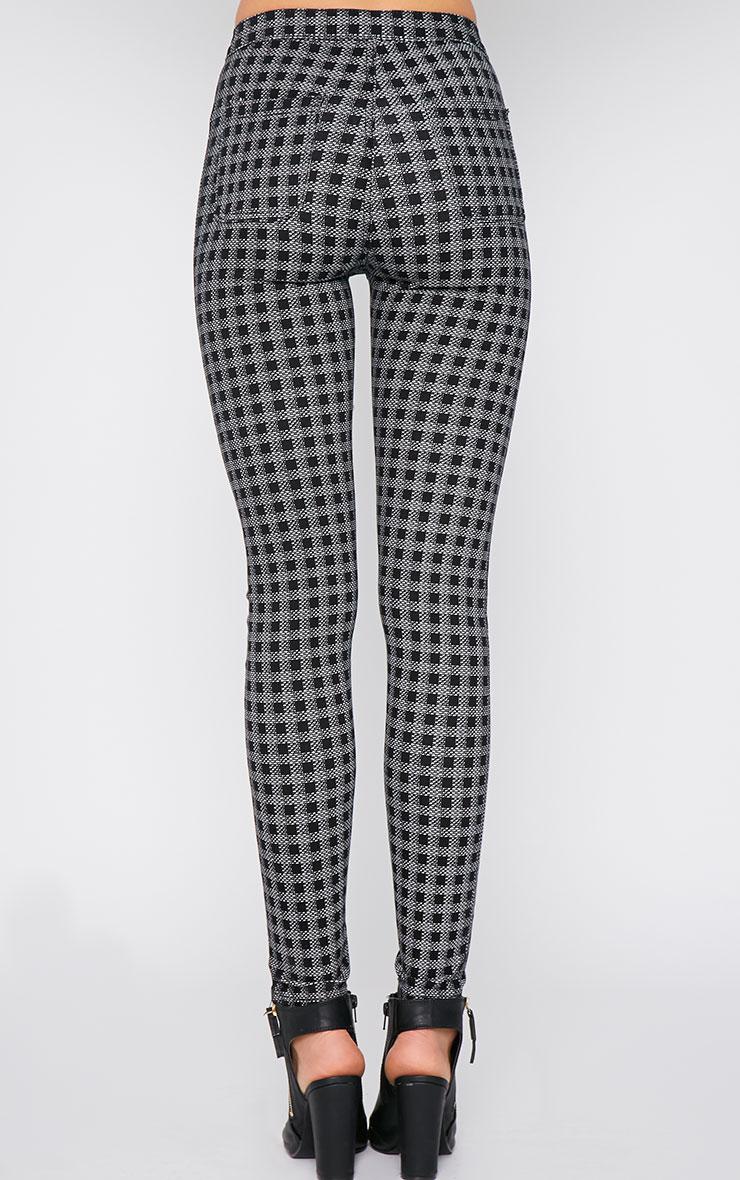 Rhosyn Monochrome Square Print High Waist Skinny Jean  2