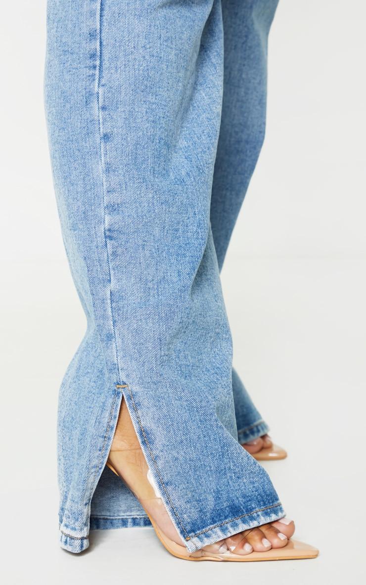 PLT Plus - Jean bleu délavé à ourlet fendu 5