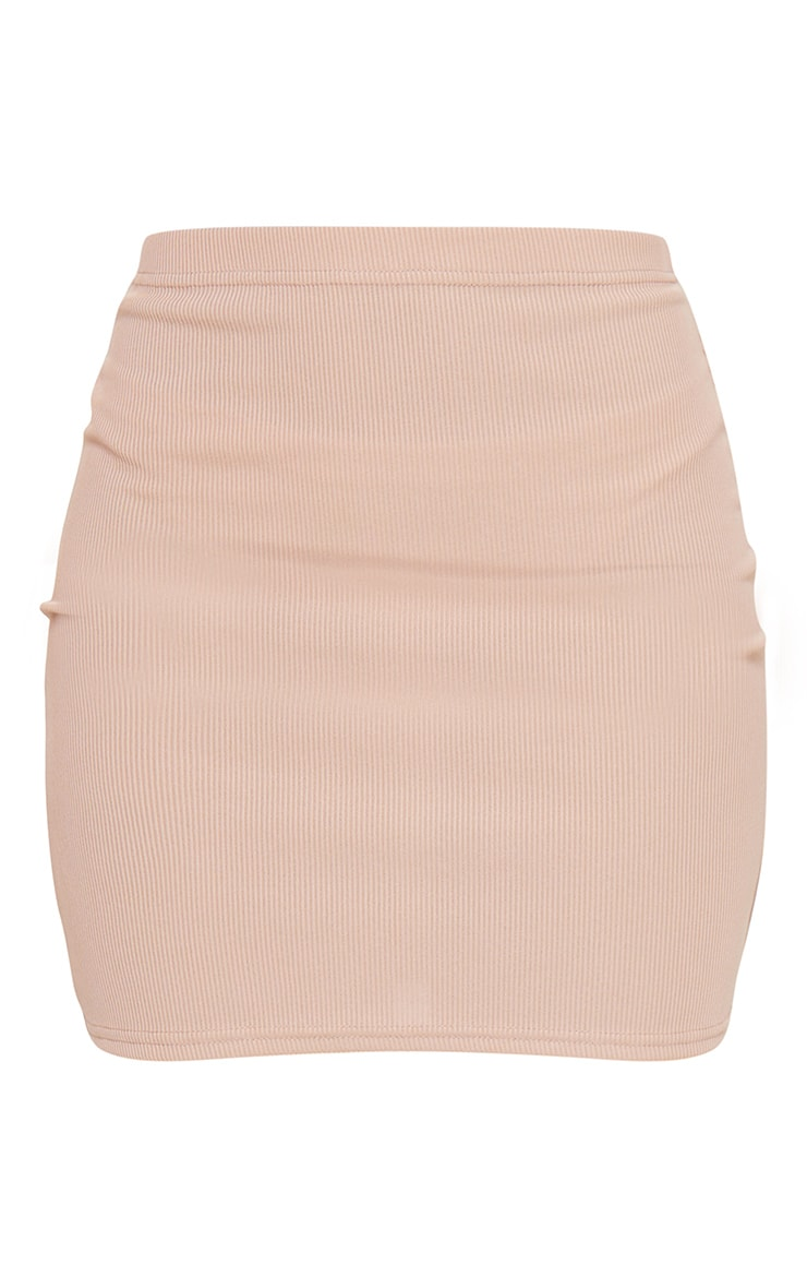 Stone Rib Popper Front Mini Skirt 6