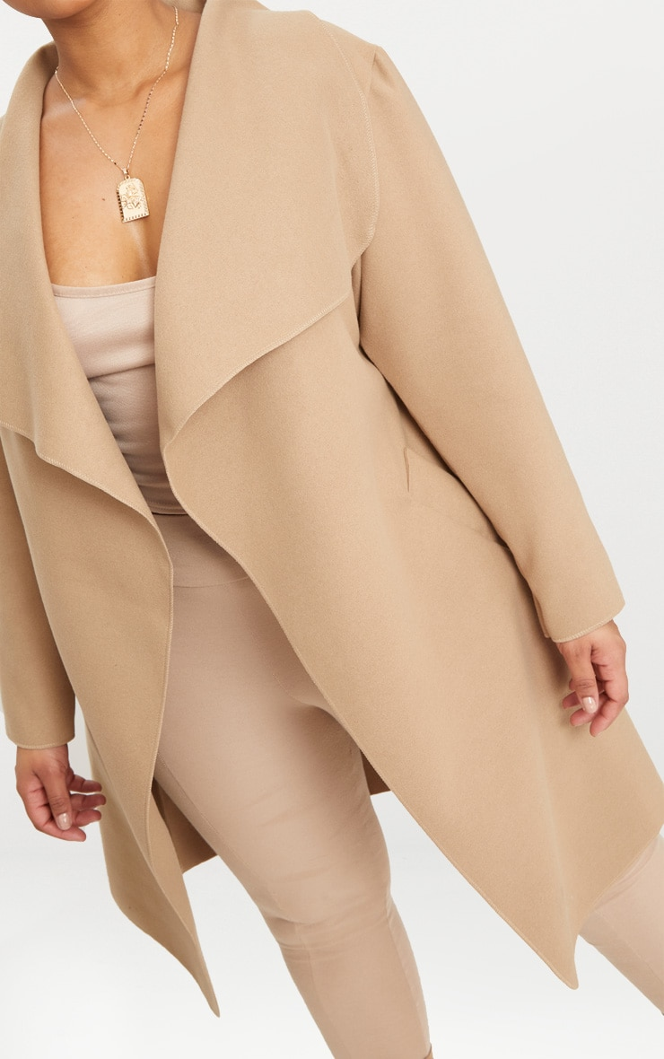 Plus Camel Waterfall Coat 5
