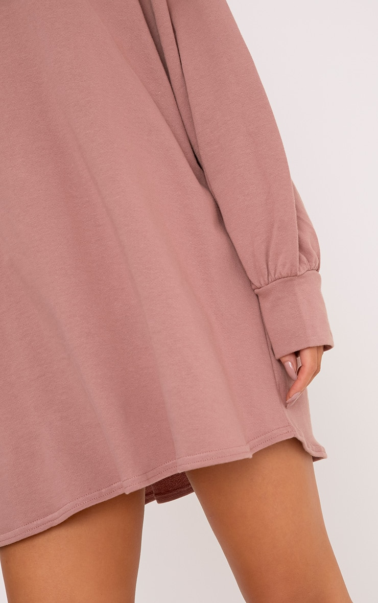 Dark Mauve Oversized Sweater Dress 5