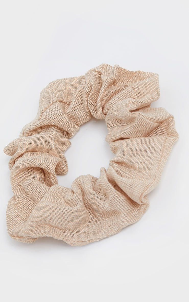 Sand Hessian Scrunchie 2