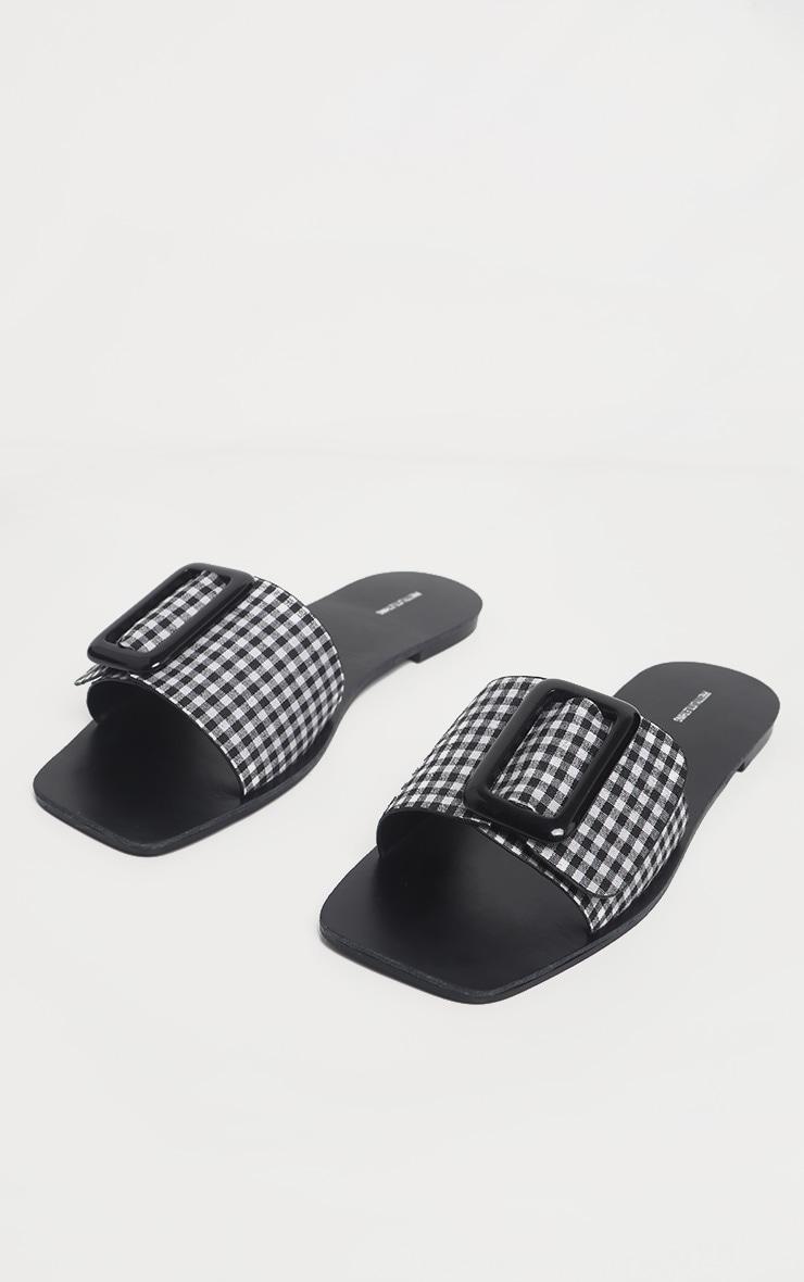 Gingham Buckle Mule Sandal 3