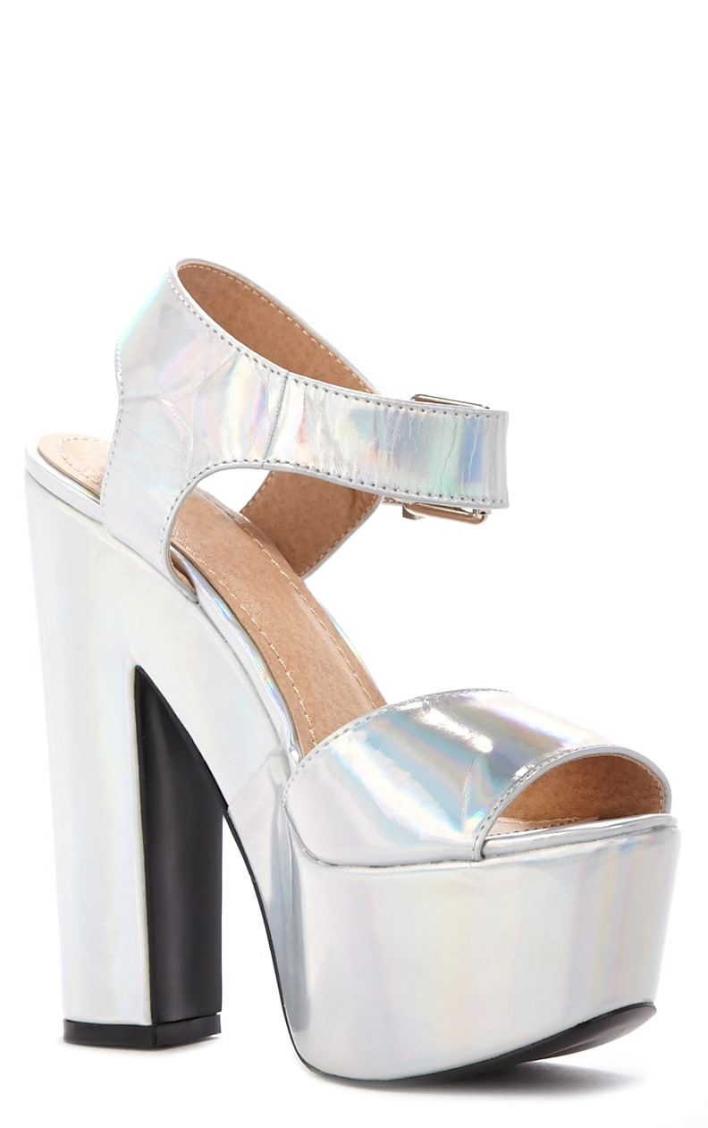 Madison Holographic Platform Sandal 3