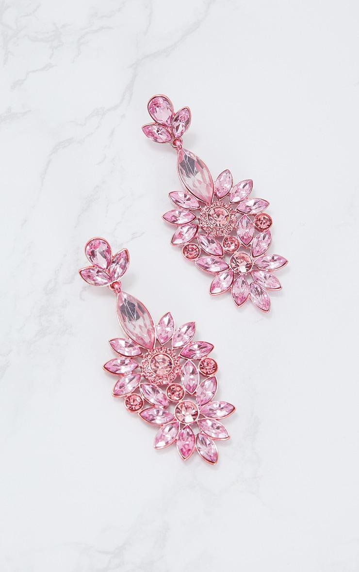 Pink Statement Jewel Drop Earrings 4