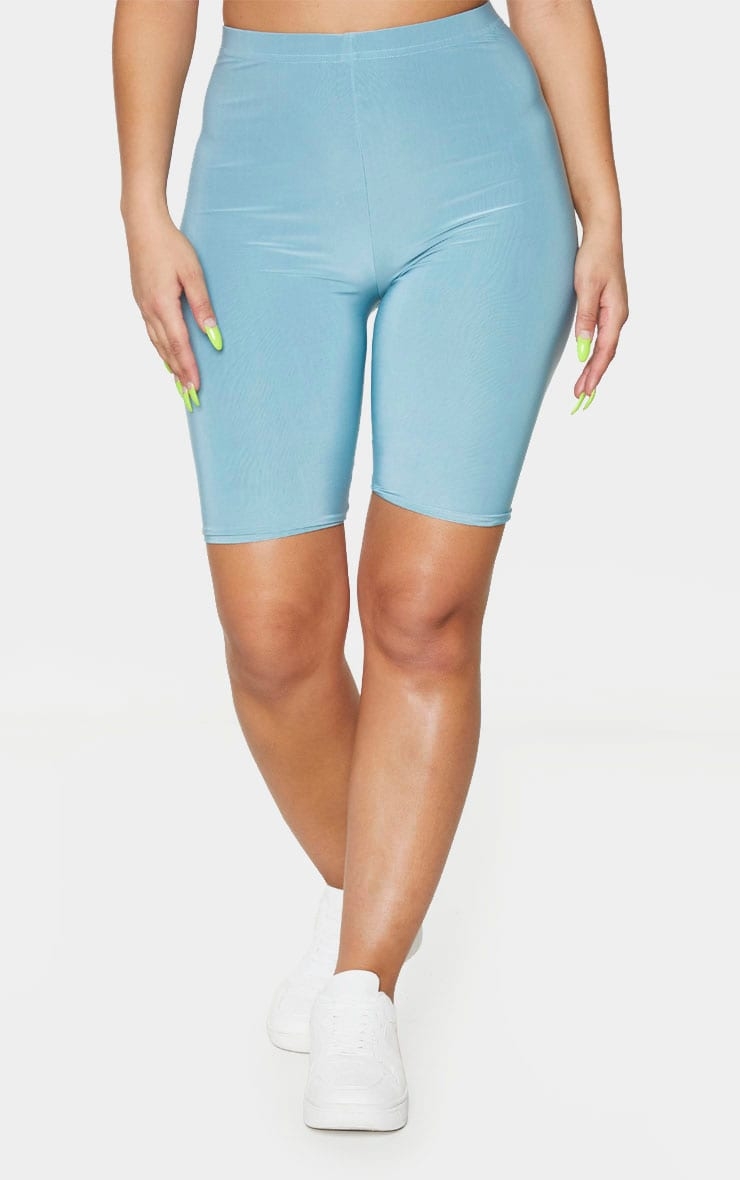 Mint Slinky High Waisted Bike Shorts 2