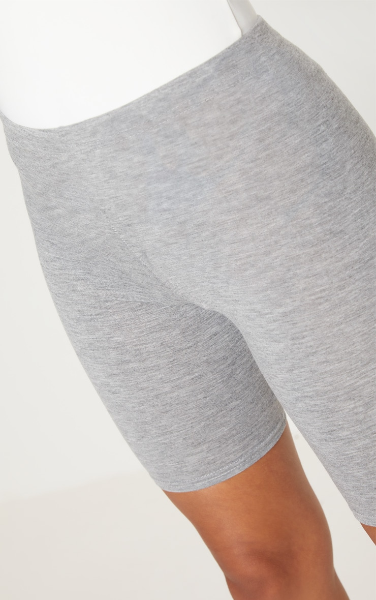 Petite Grey Marl Basic Bike Shorts 6