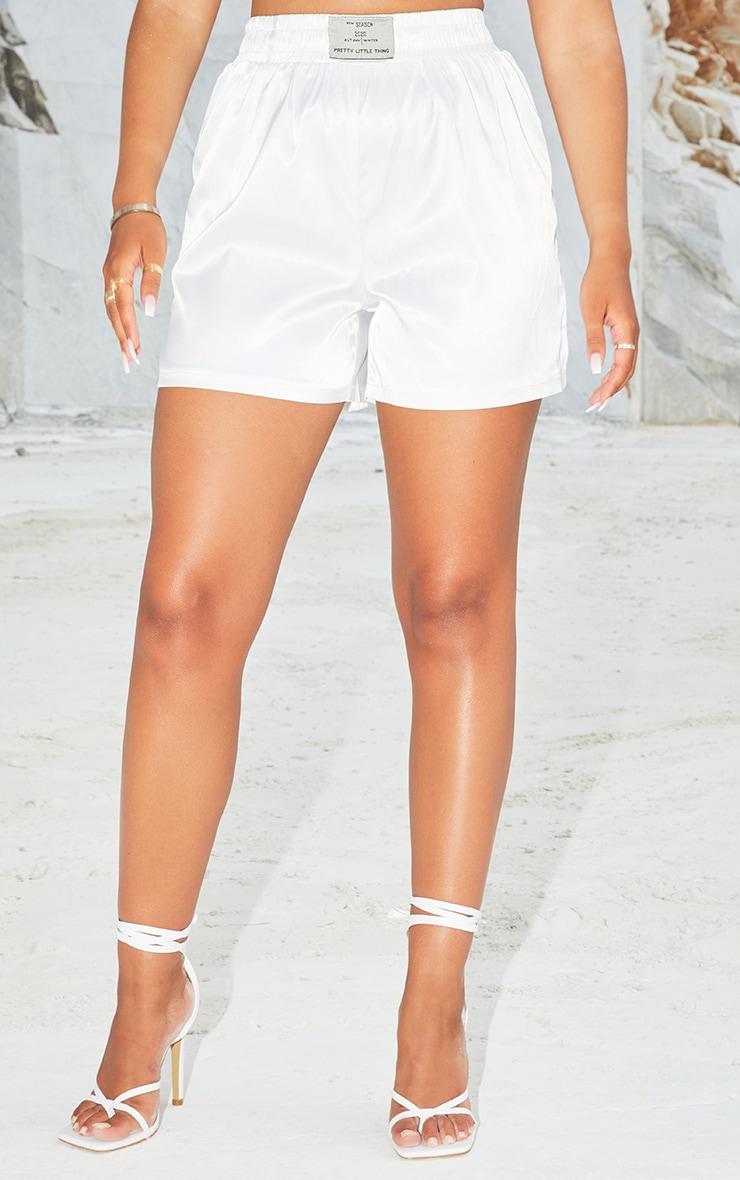 Cream Satin Boxer Shorts 2