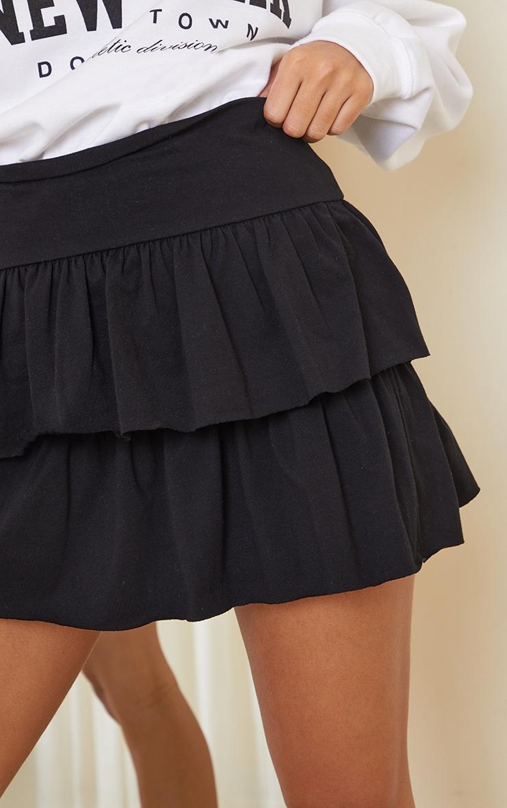 Black Tiered Jersey Skater Skirt 5
