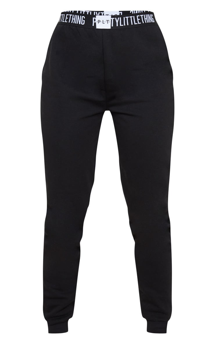 PRETTYLITTLETHING Black Lounge Jogger 3