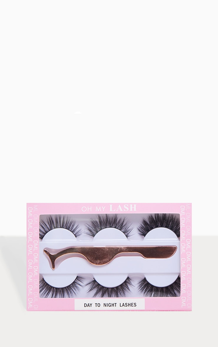 Oh My Lash Gift Set 3 Lashes And Eyelash Applicator by Prettylittlething