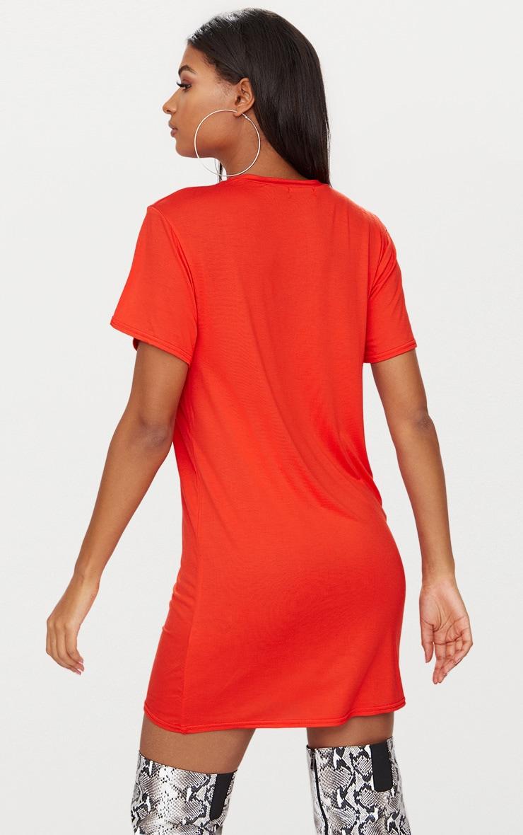 Ready Orange T Shirt Dress 2
