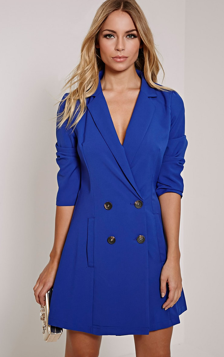 Tobyn Cobalt Double Breasted Blazer Dress 1