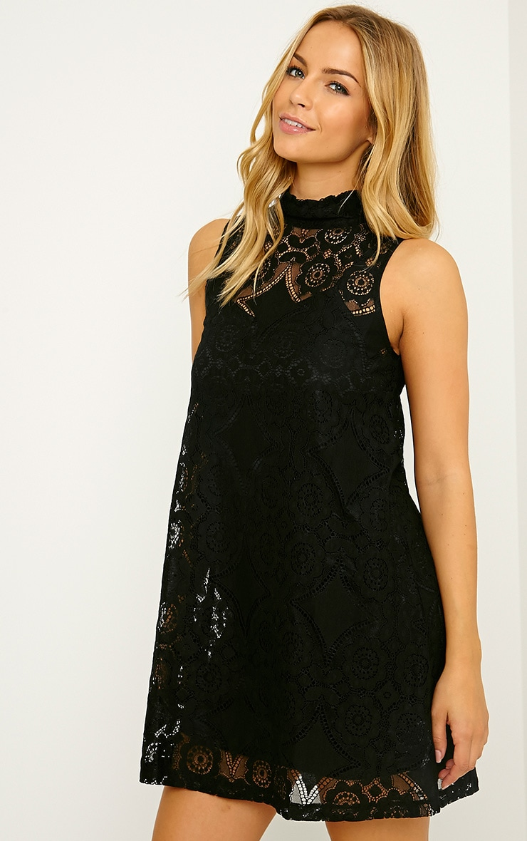 Kelsey Black Lace Shift Dress 4