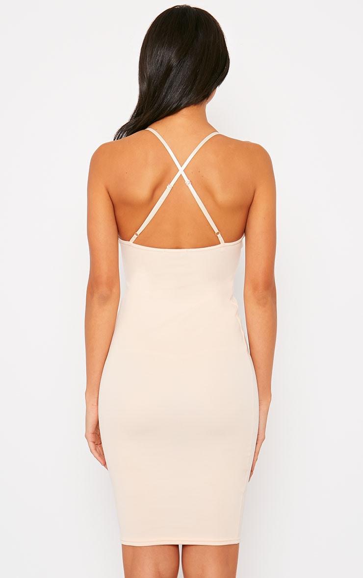 Nada Nude Plunge Cross Back Midi Dress 2