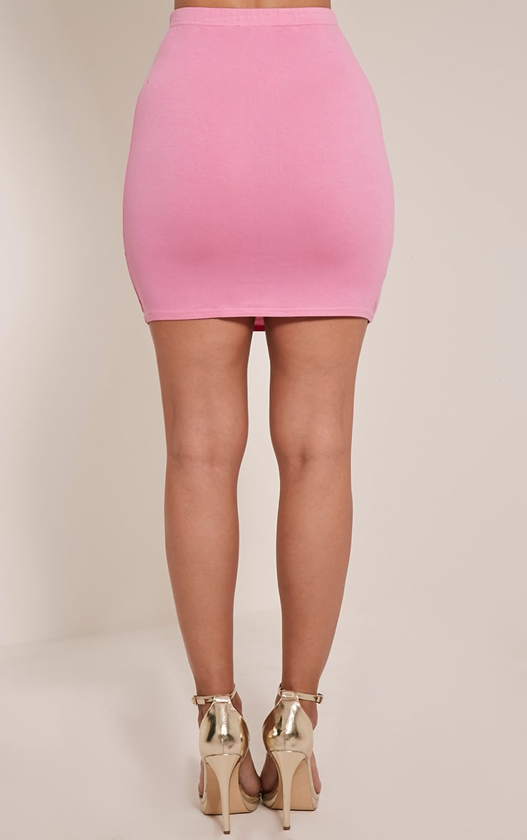 Basic Bubblegum Pink Jersey Mini Skirt 5