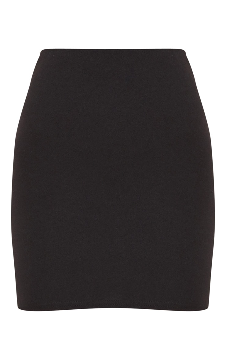 Milah Black Scuba Mini Skirt 3