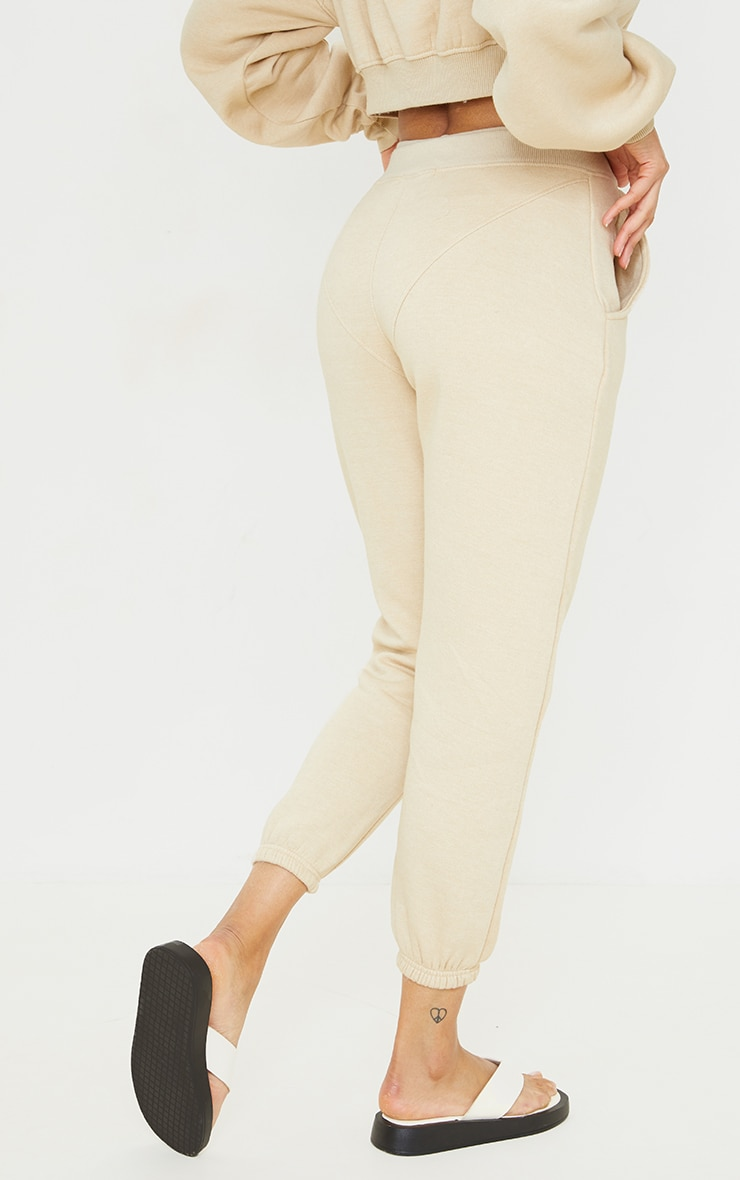 PRETTYLITTLETHING Stone Badge Cuffed Joggers 3