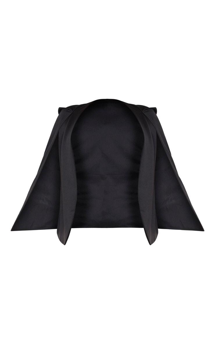 Plus Black Cape Blazer 5