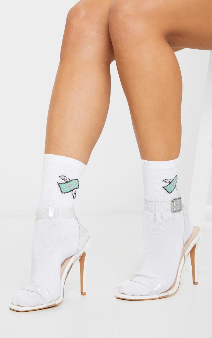 White Dollar Wing Socks 1