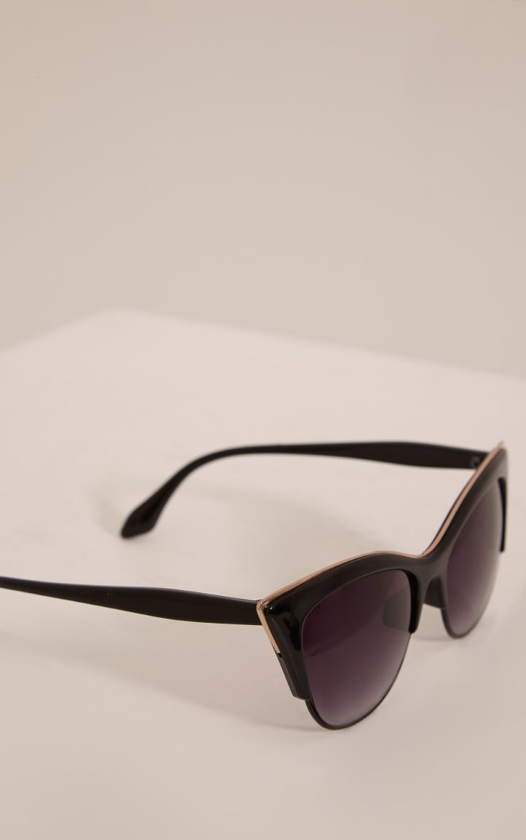 Rio Black Retro Frame Sunglasses 5