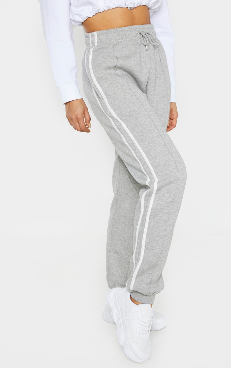 Tall Grey Double Side Stripe Jogger  2