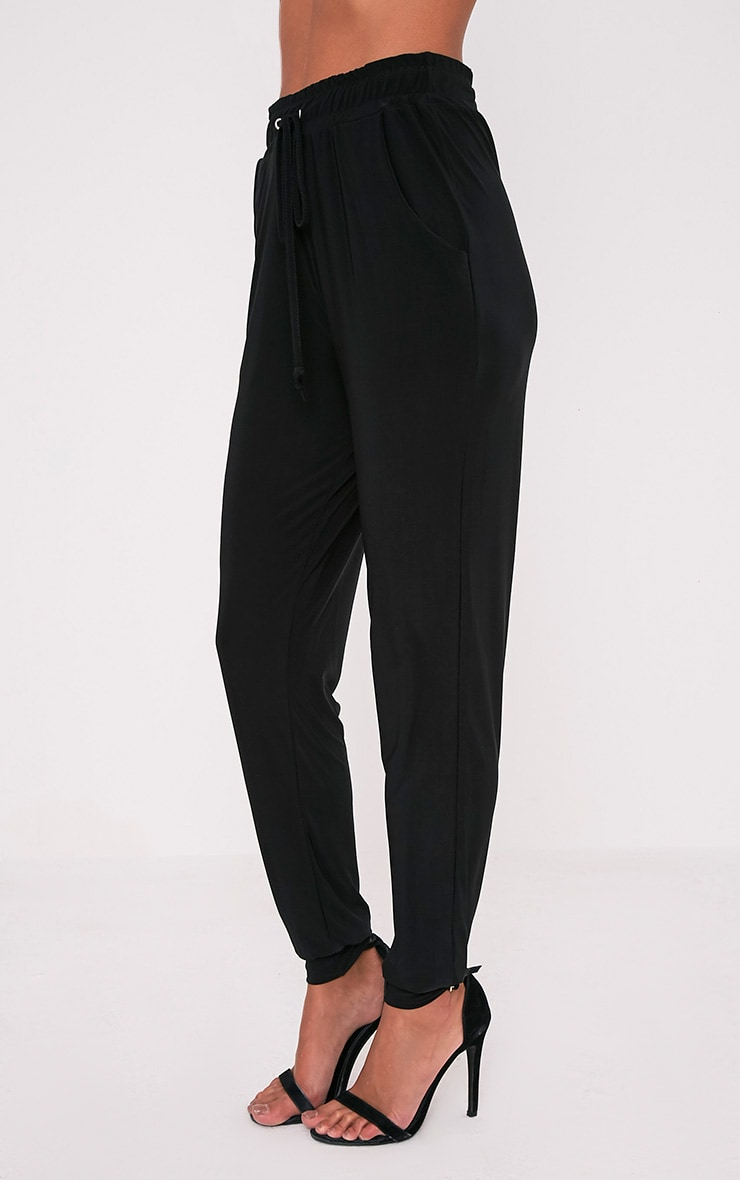 Savanna Black Slinky Joggers 4