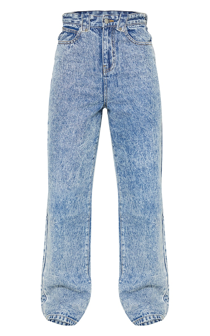 Acid Blue Wash Loose Fit Jeans 5